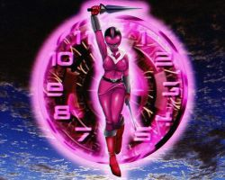 Jen Scotts Pink Time Force Ranger 3-? (Commission) by AngeroX