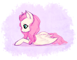 Fluttershy Sketch by CutieInk