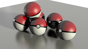 Pokeballs 3d Model by Mikey-Spillers
