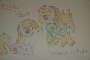 Medic Heart and Wrench-it-Right by Shadowboy378