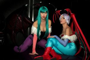 Morrigan and Lilith by MariRainha