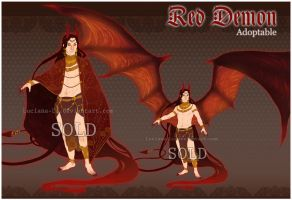 Adoptable - Red Demon (CLOSED) by Luciana-Lu