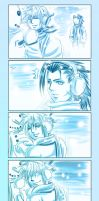 FF7: Zack+Cloud in the snow by DarkLitria