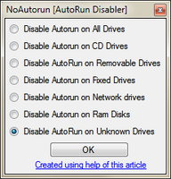 AutoRun Disabler by Vishal-Gupta