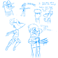 Pnf sketches by dragonwolfgirl1234