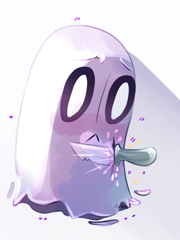 Napstablook! by Asriee