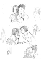 +Gyakuten Saiban Sketches+ by DixFirebone