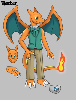 Blaster the Charizard by Draw-ze-Drawing