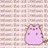 wallpaper pusheen the cat by Moustachegirl05