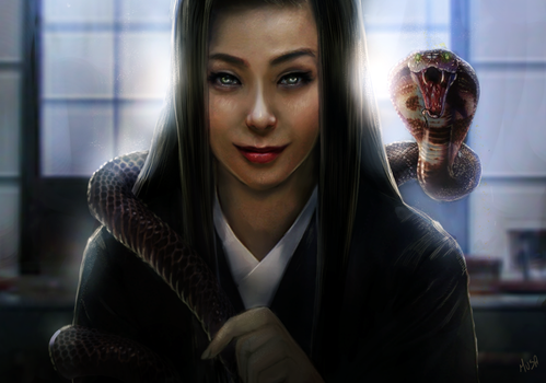 WOMAN AND COBRA by musane