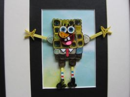 Sponge BOB in Quilling by eidatwong