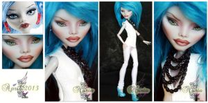 MH Ghoulia repaint #4 ~Nuria~ by RogueLively