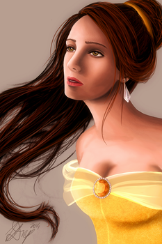 Belle - Beauty and the Beast by VD-Art