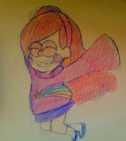 I drew a Mabel for the first time. by DaRainbowGurl
