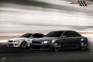 BMW M3 x AUDI RS4 by SaMuVT