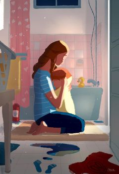Bath time conversations. by PascalCampion