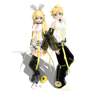 DT Append Rin and Len Kagamine (Future Style) + DL by AkikoKamui97