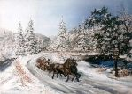 A sleigh ride by JoannaPartyka