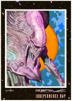 ID4 Independence Day Alien Trading Card by Hartter