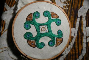 Day 3: Embroidery...Viking style by NightPhoenixArt