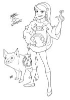 Gravity Falls Mabel and Waddles by Mono-Phos