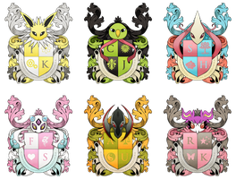 PKMNA :: House Emblems V.2.0 by TinyBuni