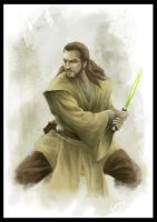Speed Paint-Qui Gon Jinn by ge12ald