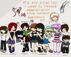 Happy b day to me and thank u by ArisaMinase