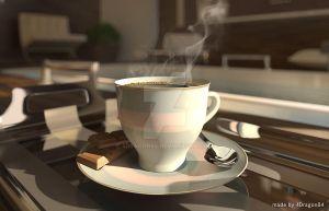 3D coffee cup by 4Dragon84