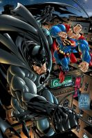 Batman and Superman by iANAR