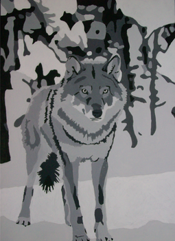 Wolf Value Painting by DL2288