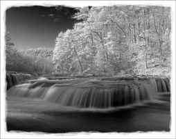 Haw Creek Falls in Infrared by scottmphoto