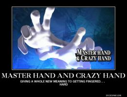 Master and Crazy hand by f-bomb101
