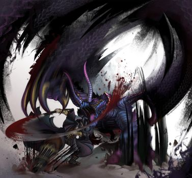 Bloodborne x MH Gore Magala by TheOneWithBear
