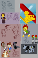 LEGO Sketchdump by Crescent-Mond