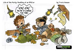 The party leader - RPG Comic by travisJhanson