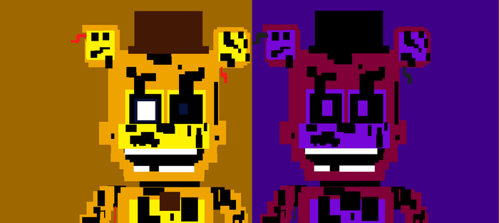 8-bit Shadow And Withered Spring Freddy by mrredplasmabird12