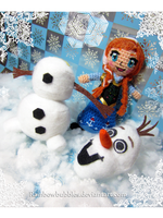 Princess Anna and Olaf from Frozen by Rainbowbubbles