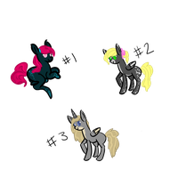 5 Point pony adoptables [[CLOSED]] by shimmer-thestral