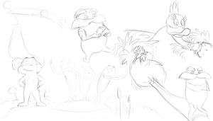 lorax doodles by Mustang-Heart