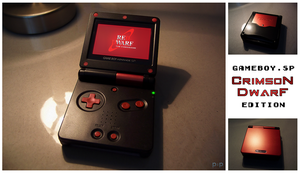 GameBoy Advance SP Crimson Mod by P2Pproductions