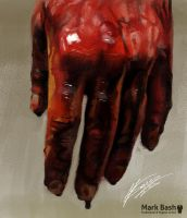 Bloody Hand by Mark-Bash