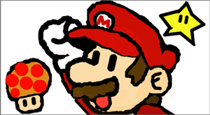 Paper Mario and items by Lehvorak