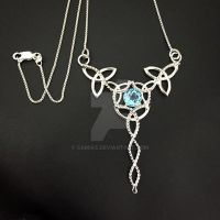 Celtic Blue Topaz Necklace by camias