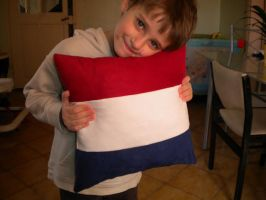 Dutch flag pillow by Kavel-WB