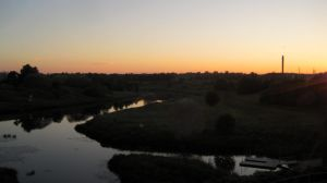 Dusk over river by outolumo