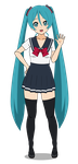 Project Diva 2nd Miku by fluffmaster222