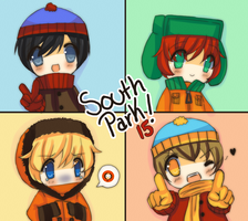 15 years south park by mojiyoshi