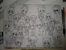 Shugo Chara: Chibi Cast by likecolourpencils