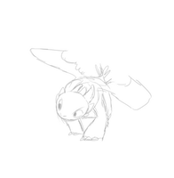 Toothless Feeding Time W.I.P.2 by CavySpirit